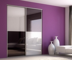 Sliding doors Alto lacquered glass Damson - Extra White