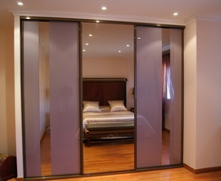 Sliding doors Galaxy + silver miror