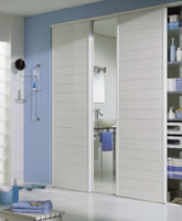 Sliding doors Lamelles White