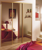 Sliding doors Bronze miror