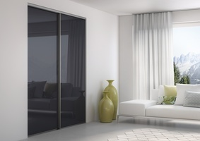 Sliding doors lacquered glass