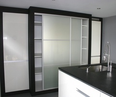 Sliding doors mat glass Matelux with Japanese style