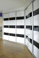 Sliding doors Cosmos lacquered glass  White and Black